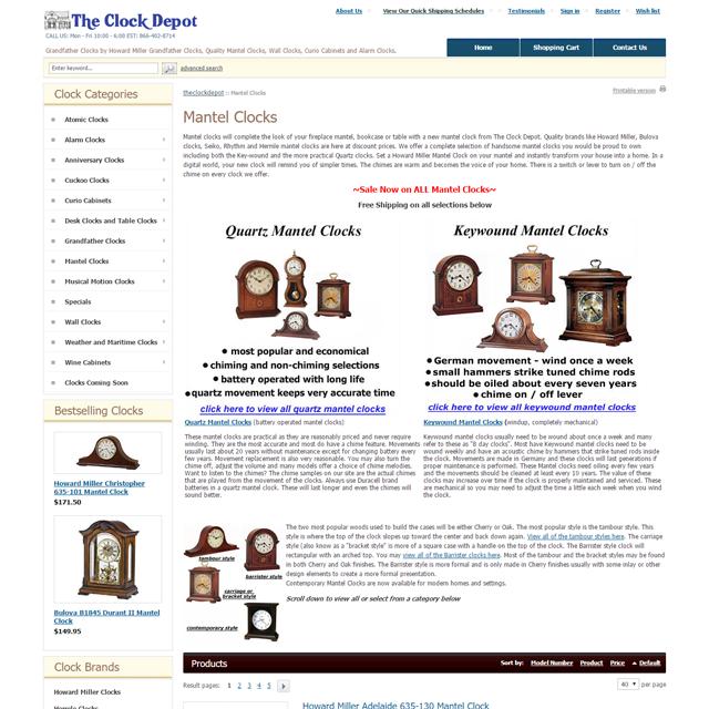 screencapture theclockdepot mantel clocks html 1488832798304
