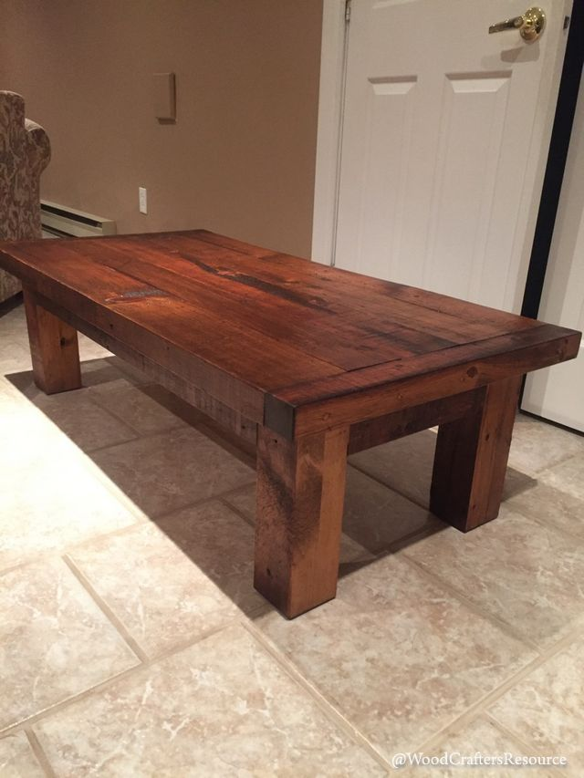 Follow along as we build a Coffee Table Made From Reclaimed Lumber