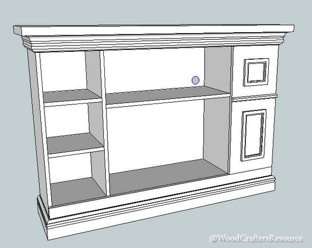 Faux Fireplace Media Center Sketchup design 2