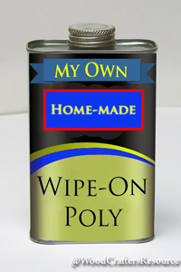Quick tip: Save money while making your own wipe-on polyurethane